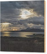 Dramatic Skye Wood Print