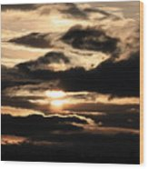 Dramatic Sunset Wood Print