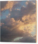 Dramatic Sweeping Clouds Wood Print