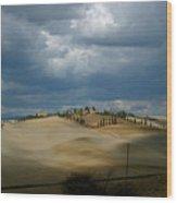 Dramatic Tuscan Landscape Wood Print