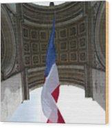 Drapeau Francais Wood Print