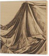 Draped Fabric Wood Print