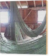 Draping Nets 2 Wood Print