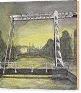 Draw Bridge In Meppel, Holland 2016 Wood Print