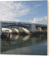 Drawbridge At Port Canaveral In Florida Wood Print