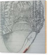 Drawing A Masterpiece  Wood Print