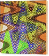 Drawing Color Squares Abstract Wood Print