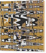 Drawing Composition Abstract Wood Print