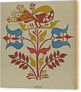 "Drawing For Plate 4: From Portfolio ""folk Art Of Rural Pennsylvania"" Wood Print"