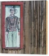 Drawing John Wayne Hondo  Medicine Horse Black Canyon City Arizona 2005 Wood Print