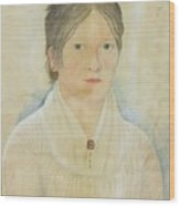Drawing Of A Young Girl Wood Print