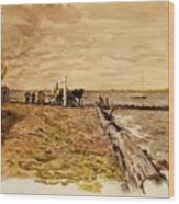 Drawing The Seine 1882 Wood Print
