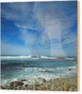Drawn To The Sea Wood Print