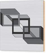 Drawn2shapes8bnw Wood Print