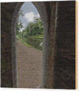 Drayton Footbridge Wood Print