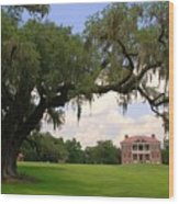 Drayton Hall Plantation Charleston Wood Print