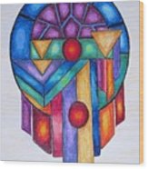 Dream Catcher Abstract Wood Print