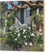 Dream Cottage In Laguna Wood Print