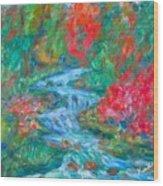 Dream Creek Wood Print
