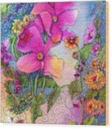 Dream Flowers Wood Print