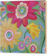 Dream Flowers Wood Print