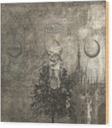 Dream - In Black And White Wood Print