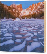 Dream Lake Dimples Wood Print
