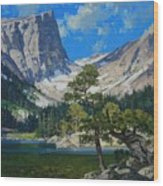 Dream Lake Wood Print