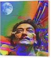 Dream Of Salvador Dali Wood Print