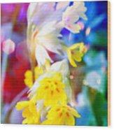 Dream Of Yellow Flowers Wood Print