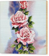 Dream Roses Wood Print