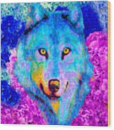 Dream Wolf Wood Print