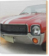 Amx Leaning-in Wood Print