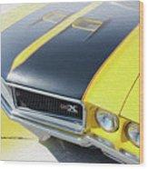 Streakin' Yellow Buick Wood Print