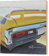 Screamin' Yellow Buick Wood Print