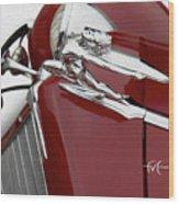 Beautiful Buick Babe Wood Print