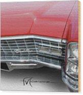 Redhead Cadillac Wood Print