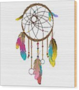 Dreamcatcher Rainbow Wood Print