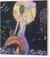 Dreaming Mermaid Wood Print
