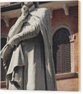 Dreaming Of Dante Verona Italy Wood Print