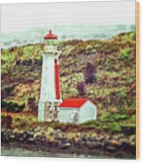 Dreaming Of The Georges Island Light In Halifax Wood Print