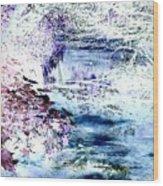 Dreaming River Wood Print