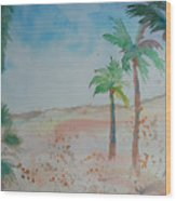 California Beach Wood Print