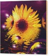 Dreams 4 - Sunflower Wood Print