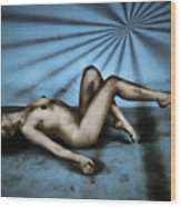 Dreams In Blue Wood Print