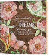 Dreams - Thoreau Wood Print
