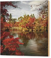 Dreamy Autumn Impressionism Wood Print