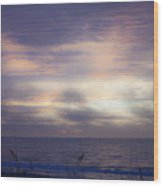 Dreamy Blue Atlantic Sunrise Wood Print
