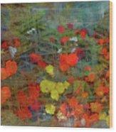 Dreamy Flowers Wood Print
