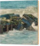Dreamy Jetty - Jersey Shore Wood Print